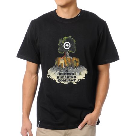 LRG Ground Breaking Company Black Tee Shirt
