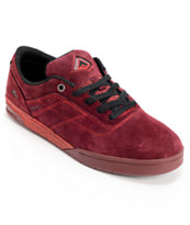 Emerica Bryan Herman G6 Maroon, Red & Black Skate Shoes