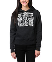 Obey Girls Marked For Life Charcoal Grey Pullover Hoodie