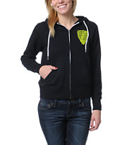 Obey Girls Facing Dynamite Black Zip Up Hoodie