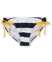 Corona Swim Navy Stripe Tunnel Tie Bikini Bottom