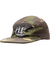 Stussy X Huf Camo 5 Panel Hat