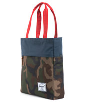 Herschel Supply Harvest Camo, Navy & Red Tote Bag