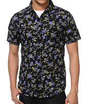 Imperial Wanderer Black Floral Print Button Up Shirt