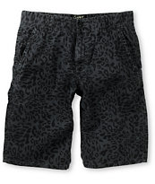 Empyre Bobby Chop Cheetah Charcoal Chino Shorts
