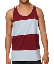 Dark Seas Derrick Red & Blue Stripe Tank Top
