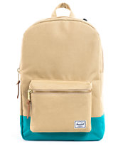 Herschel Supply Settlement Khaki & Teal Backpack