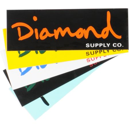 Diamond Supply OG Script Sticker