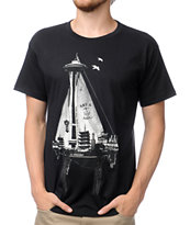 Spacecraft S.S. Spacecraft Black Tee Shirt