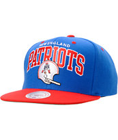 NFL Mitchell and Ness Patriots Arch Helmet Snapback Hat