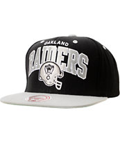 NFL Mitchell and Ness Raiders Arch Helmet 2Tone Blue Snapback Hat