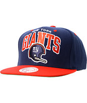 NFL Mitchell and Ness Giants Arch Helmet 2Tone Blue Snapback Hat