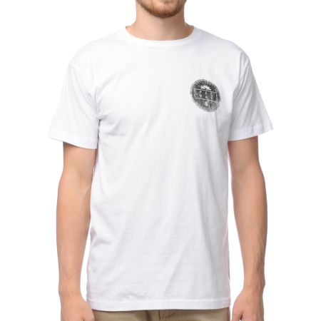 Spacecraft Circle Logo White Tee Shirt