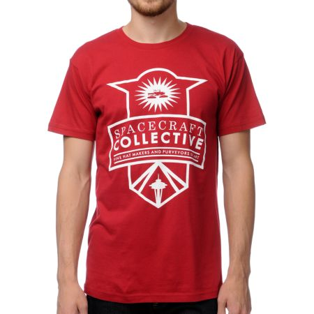 Spacecraft Badge Red Tee Shirt