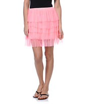 Lost Ceci Pink Laci Skirt