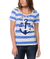 Glamour Kills Girls The Union Blue & White Tee Shirt