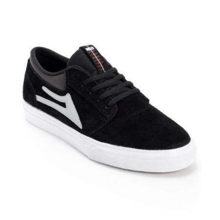 Lakai Griffin Black & White Suede Skate Shoe