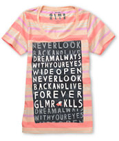 Glamour Kills Dream Always Pink Striped Tee Shirt