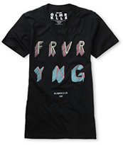Glamour Kills Forever Young Black Tee Shirt