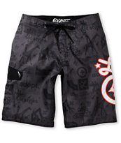 LRG CC Icon Black 22 Board Shorts