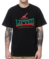 LRG Lifted Giraffe Black Knit Tee Shirt