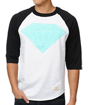 Diamond Supply Big Brilliant White & Black Baseball Tee Shirt