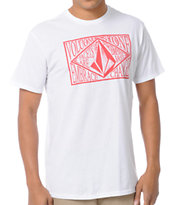 Volcom Farline White Tee Shirt
