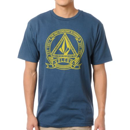 Volcom Seal Dark Teal Tee Shirt