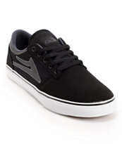 Lakai Brea Black & White Canvas Skate Shoe