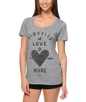 Glamour Kills Love More Heather Grey Tee Shirt