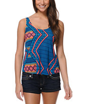 Hurley Girls Aces Blue Cami Tank Top