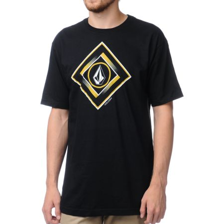 Volcom Gee Square Black Tee Shirt