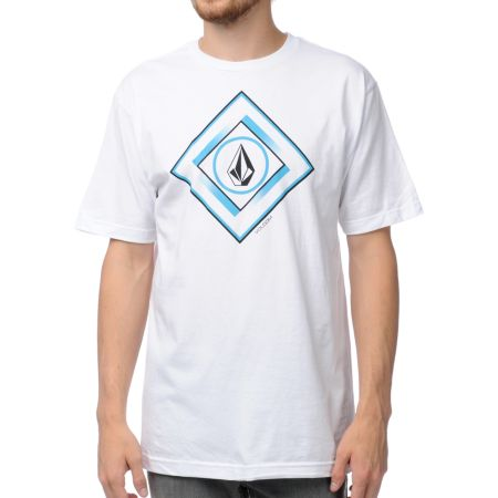 Volcom Gee Square White Tee Shirt