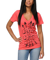 Glamour Kills Tried And True Pink V-Neck Tee Shirt