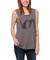 RVCA VA Terns Grey Muscle Tank Top