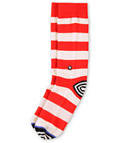 Stance Girls Mixie Red & White Crew Socks