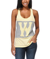 WeSC Girls Franchise Dub Yellow Racerback Tank Top