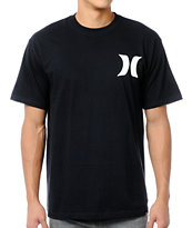 Hurley Brand Front Backer Black Tee Shirt