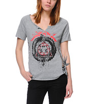 Fox Girls Rascal Heather Grey Tee Shirt