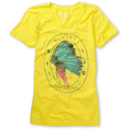 Hurley Girls Ghost Stories Yellow Tee Shirt