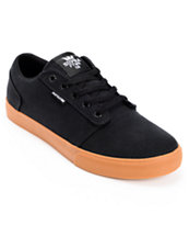 Supra Amigo Black & Gum Canvas Skate Shoe