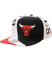 NBA Mitchell And Ness Bulls Swirl Black Snapback Hat