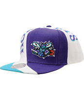 NBA Mitchell And Ness Hornets Swirl Purple Snapback Hat