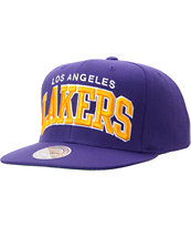NBA Mitchell And Ness LA Lakers Purple Snapback Hat