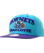NBA Mitchell and Ness Hornets Grand Arch Snapback Hat