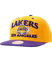 NBA Mitchell and Ness Lakers Grand Arch Snapback Hat