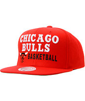 NBA Mitchell And Ness Chicago Bulls Blocker Red Snapback Hat