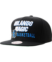 NBA Mitchell And Ness Orlando Magic Blocker Black Snapback Hat
