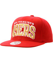 NFL Mitchell And Ness San Francisco 49ers Red Arch Snapback Hat