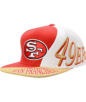 NFL Mitchell And Ness San Francisco 49ers Skew Snapback Hat